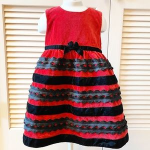 The Children's Place 3T Red Velvet Dress